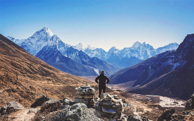 Trekking route in Nepal
