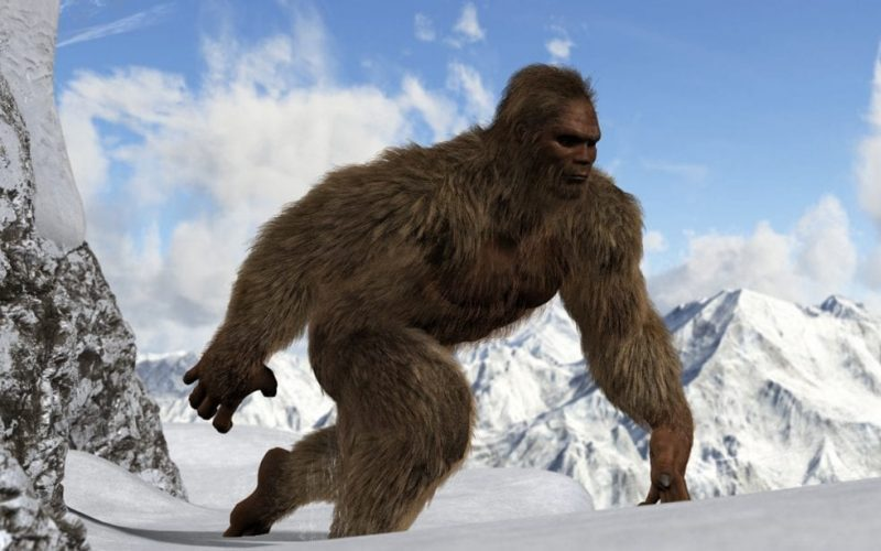 Mysterious Yeti in Himalayas